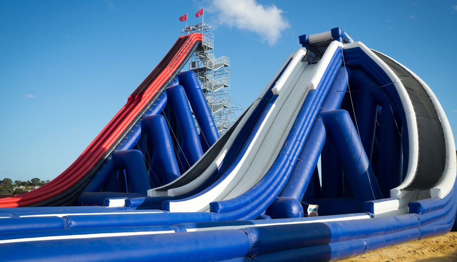 FreeStyle Slides Offers World's Tallest Inflatable Water Slide