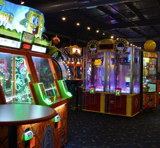 Arcade games at Laser Flash. The arcade is part of a 12,000-square-foot facility.