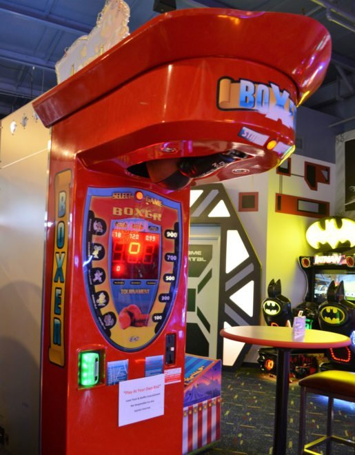 A boxing game at Laser Flash. Although most guests do not visit the facility for the arcade, it is still an important part of the business.