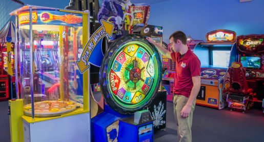 Staff Member Jared Landis of Adventure Sports in Hershey, Pa., in the arcade. All-weather, indoor fun is important to the attraction.