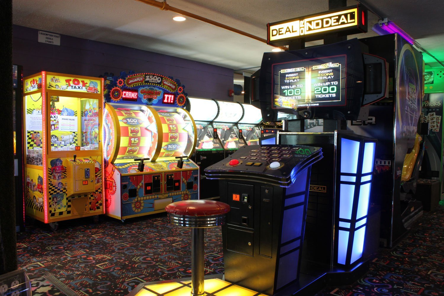 Arcade games at Fun 'N' Stuff in Macedonia, Ohio. The general manager looks for appealing prizes that encourage visitors to play the games.