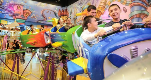 Guests enjoying a ride at a Funky Town family entertainment center. The Embed system has quality software, reliability and stability, said the founder of EMC, LLC.