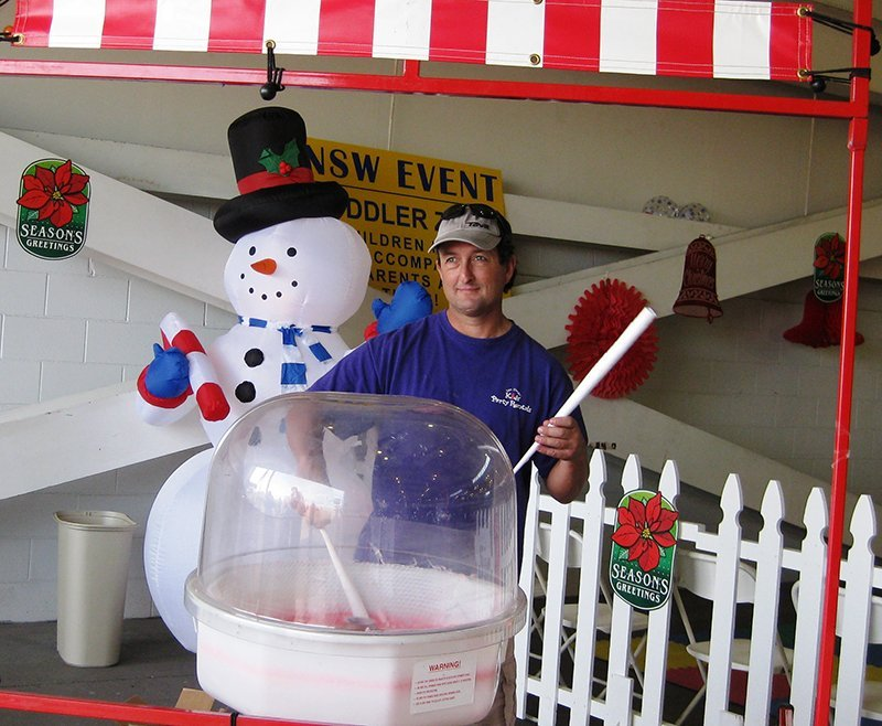 Greg Knight, owner, San Diego Kids Party Rentals in San Diego, Calif., photographed with a cotton candy machine. Knight, who was interviewed in the September/October 2016 issue of TAP for story about party rentals, said during the Halloween season, carnival games are popular rental pieces. Additionally, he said in the spring, cotton candy and popcorn machines are in demand.
