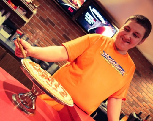 Michael Brookes, rink ranger, Skateland West Family Fun Center, Westland, Mich. The best pizza involves using just the right amount of sauce, the owner and general manager said.